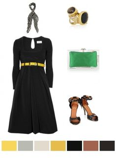 black, green & gold