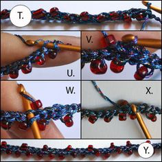 crochet i-cord with beads necklace