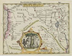 A Map of the Garden of Eden in the Middle East