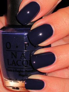 Navy Blue Nail Polish Lovely Currently Painting My Nails Opi Products Road House Blues Navy Blue Nail Polish, Navy Blue Nails, Fall Nail Polish, Nail Polish Colors, Polish Nails, Cute Nails, Pretty Nails, Gorgeous Nails, Dark Nails