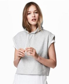 Short Sleeve Cotton Hooded T-shirt