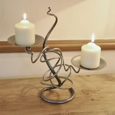 Hand Forged Double Tangle Candle Holder - This individually crafted Hand Forged Double Tangle Candle Holder not only looks great but is also a unique piece of art. Hand forged in Scotland, each piece is forged individually meaning no two pieces are the same.