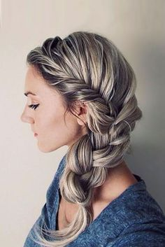Medium Hairstyles with Twisted Side Braid ★ See more: http://glaminati.com/hair-how-to-twisted-side-braid/