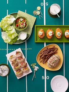 Blitz Burgers and Other Football Fare - great healthy #recipe ideas for your Super Bowl (or any football watching party)