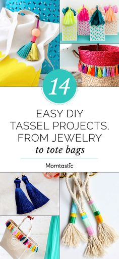 You can either buy tassels for these DIY projects, or get crafty and make your own.