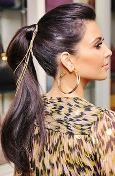 love the ponytail and Chain hair.