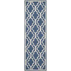 "Safavieh Handmade Cambridge Moroccan Navy Wool Runner Rug (2'6"" x 12') #Safavieh #TraditionalEuropean"