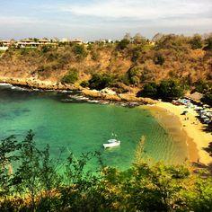 Playa Carrizalillo en Puerto Escondido, ideal para aprender a surfear