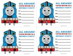 Free Printable Thomas And Friends Birthday Invitations