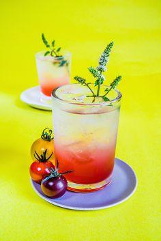 Summer tomato shrub with strawberry + mint from...circahappy.com # ...