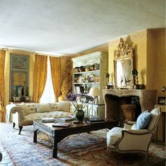comfortable + beautiful ... french living room
