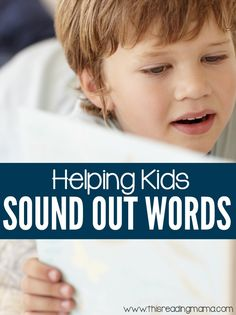 If your child struggles to sound out words or blend the sounds together, these 5 Tips for Helping Kids Sound Out Words may help! | This Reading Mama