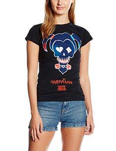 Cid Suicide Squad – Hq Black Icon – T-Shirt – Femme: Lavage en machine, 30° max. Produit sous licence CID Vêtement geek L'article Cid…