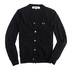 i will forever want this obscenely expensive cardigan. || J.Crew - PLAY Comme des Garçons wool cardigan sweater