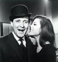 """""""The Avengers"""", Patrick McNee as 'John Steed' and Diana Rigg as 'Emma Peel'"""