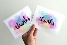 Easy 5 Minute DIY Watercolor Greeting Card