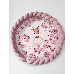 Luxury 2in1 fonott játszószőnyeg - Őzike bazsarózsákkal, rózsaszín Baby Shower Diapers, Coin Purse, Pillows, Luxury, Diy, Cake, Products, Bricolage, Kuchen