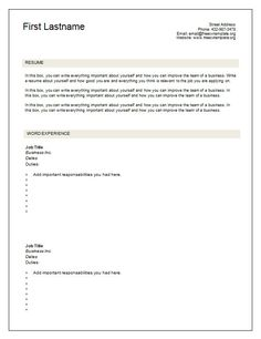resume templates fill in the blanks