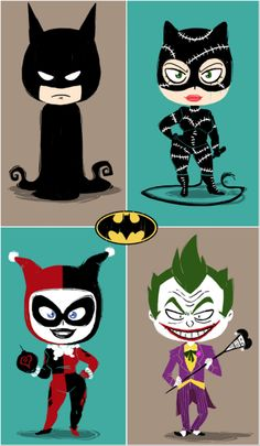Cartoon double date: Batman, Catwoman, Harley and Joker Batman And Catwoman, Batman Art, Gotham, Dc Comics, Batman Love, Dc Characters, Joker And Harley Quinn, Kawaii, The Villain