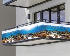 """Balkonbanner """"Unterwasserwelt"""" Aquarium, Banner, Garage, Best Friend Photography, Friend Photography, Goldfish Bowl, Banner Stands, Carport Garage, Aquarium Fish Tank"""