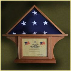 The 5x9 Bottom Flag Display Case Features An Extra Thick Base Giving This