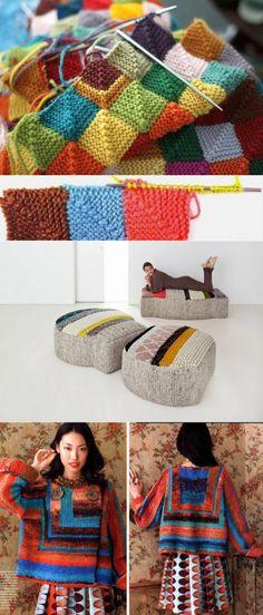 Вязание в стиле пэчворк спицами: схемы, лоскутное вязание видео, техника и мастер класс, жакеты и кардиганы, носки и кофта, стильный пуловер, свитера и варежки, фото