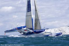 ORMA 60 trimaran Banque Populaire off The Needles, by Mark Lloyd