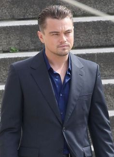 Image result for mens hairstyle dicaprio
