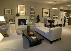 Open floor plan.  Living Rooms