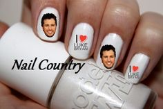 50pc Luke Bryan Shake It For Me Nail Decals Nail Art Nail Stickers Best Price NC959