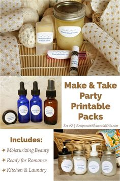 Showcase your essential oils to friends and family with our easy Make & Take Party Printable Packs where we've done all the planning for you!