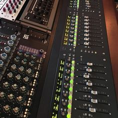 Mixing away. You can't beat the Rupert Neve, API, Solid State Logic and CAPI…