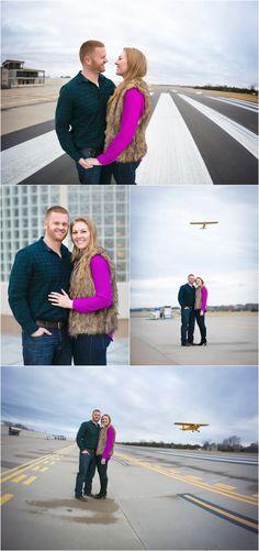 Engagement Portraits. Airport engagement. Erin Kata Photography