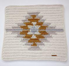 Lil' Fox Kilim Blankie, Aztec, Modern Baby Blanket, Thick and Warm Blanket, Baby Blanket, Modern Blanket, Crocheted Blanket, Gender Neutral