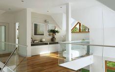 Własny 1 Interior Inspiration, Oversized Mirror, Living Room Decor, Stairs, Interior Design, Luxury, Table, Furniture, Home Decor