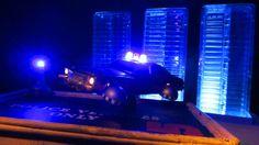 Corgi Toys Buick (Century) Regal Police Car No. 416 Converted Into A Futuristic Sci-Fi Hover Car : Diorama A Hover Police Car City Scene - 27 Of 98   by Kelvin64