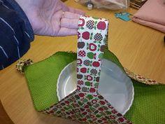POR AMOR AL ARTE: porta-tartas Lace Bag, Shabby Vintage, Crochet, Sewing Projects, Patches, Basket, Diy Crafts, Crafty, Quilts
