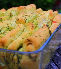 A healthy Love: Faltenbrot mit Knoblauch und Mozzarella