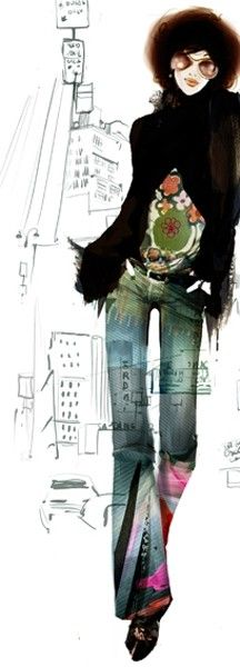 Sophie Griotto #fashion illustration