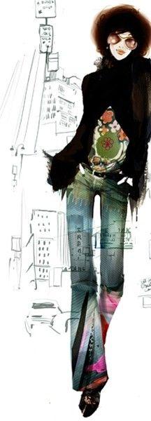 Sophie Griotto #fashion illustration