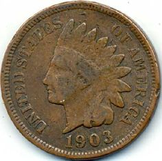 1903 Indian Head Penny FREE S (ih68)