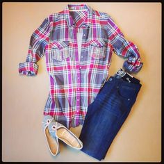 Did we mention we love flannel weather? #ootd #fall #fashion #Kohls