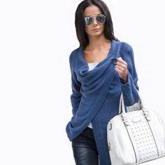 2017 Fashion Knitted sweater Women Long Sleeve Jumper autumn winter  Irregular One Button Cardigan Cotton Casual 3e8d33f62