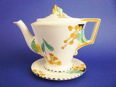 Burleigh Ware 'Meadowland' Zenith Teapot and Stand c1930