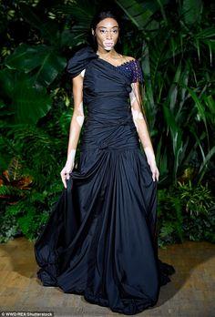 44d82904 Make like Winnie in a dramatic evening gown. #winnieharlow #vionnet #mfw #