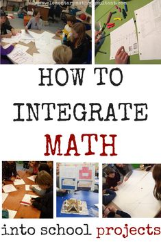 Teachers have you found it difficult to integrate math with other subjects? This posts provides tips and examples. Elementary students will love math integrated into project-based learning! Teacher Quotes, Teacher Humor, Math Projects, School Projects, Math Activities, Teacher Resources, Math Skills, Math Lessons, Math Class