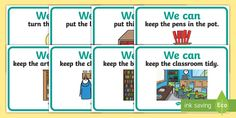 Good Manners Vocabulary Display Posters