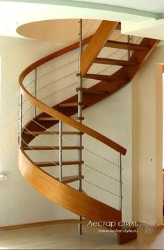 Spiral Stairs With Steel Ballusters