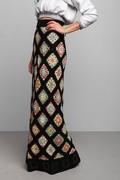 Vintage '70s Crocheted Maxi