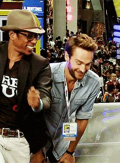 Orlando Jones and  Tom Mison